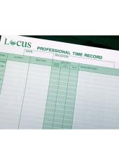 Professional Time Record - Green cover