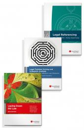 Legal Problem Solving and Syllogistic Analysis: A Guide for Foundation Law Students, Laying Down the Law, 10th Edition and LexisNexis Guide: Legal Referencing, 5th edition (Bundle) cover