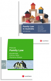Family Law in Australia, 10th edition and Focus: Family Law, 8th edition (Bundle) cover