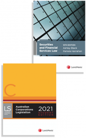 Securities and Financial Services Law, 10th edition and Australian Corporations Legislation 2021 - Student edition (2 Volume Set) (Bundle) cover
