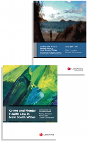Crime and Mental Health Law in New South Wales, 3rd edition and Crime and Mental Health Law in NSW, Supplement to the 3rd edition (Bundle) cover