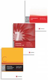 LexisNexis Case Summaries: Corporations Law, 2nd edition, Australian Corporate Law, 7th edition and Australian Corporations Legislation 2021 - Student edition (2 Volume Set) (Bundle) cover