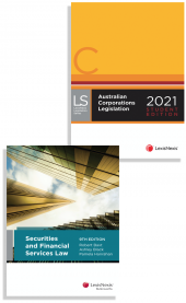 Australian Corporations Legislation 2021 - Student edition (2 Volume Set) and Securities and Financial Services Law, 9th edition (Bundle) cover