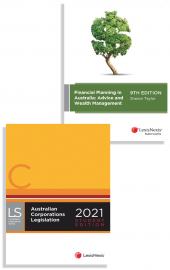 Financial Planning in Australia: Advice and Wealth Management, 9th edition and Australian Corporations Legislation 2021 - Student edition (2 Volume Set) (Bundle) cover