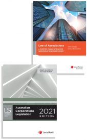 Law of Associations: A Custom Publication for Western Sydney University, Australian Corporations Legislation 2021 (2 Volume Set) (Bundle) cover