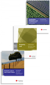 Australian Property Law: Cases, Materials and Analysis, 5th edition (eBook), LexisNexis Study Guide: Property Law, 2nd edition (eBook) and Property Law in New South Wales, 4th edition (eBook) (Bundle) cover