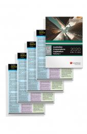 Quick Reference Card: Personal Property Securities Act, Quick Reference Card: Statutory Interpretation, 2nd edition, Quick Reference Card: Corporations Law - Directors' Duties, 4th Edition and Australian Corporations Legislation 2020 (Bundle) cover
