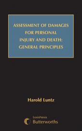 Assessment of Damages for Personal Injury and Death: General Principles (Hardback) cover