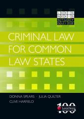 LexisNexis Study Guide: Criminal Law for Common Law States cover