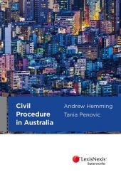 Civil Procedure in Australia cover