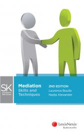 LexisNexis Skills Series: Mediation - Skills & Techniques, 2nd Edition cover