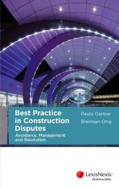 Best Practice in Construction Disputes (eBook) cover
