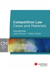 Competition Law: Cases and Materials, 4th edition  cover