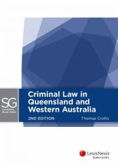 LexisNexis Study Guide: Criminal Law in Queensland and Western Australia, 2nd edition (eBook) cover
