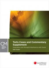 Torts Cases and Commentary Supplement: Defamation and Wrongful Interference with Goods cover