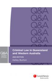LexisNexis Questions & Answers: Criminal Law in Queensland and Western Australia, 2nd edition cover
