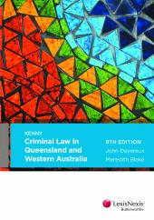 Criminal Law in Queensland and Western Australia 9th edition cover