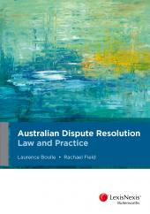 Australian Dispute Resolution Law and Practice cover