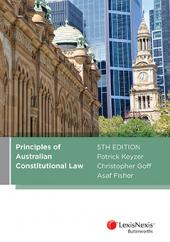 Principles of Australian Constitutional Law, 5th edition (eBook) cover