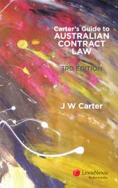 Carter's Guide to Australian Contract Law, 3rd edition cover