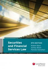 Securities and Financial Services Law, 9th edition (eBook) cover