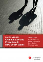 Hayes & Eburn, Criminal Law and Procedure in New South Wales, 5th edition cover