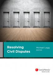 Resolving Civil Disputes (eBook) cover