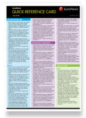 Quick Reference Card – Work Health and Safety cover