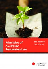 Principles of Australian Succession Law, 3rd edition (eBook) cover