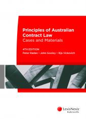 Principles of Australian Contract Law: Cases and Materials, 4th edition cover