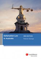 Defamation Law in Australia, 3rd edition cover