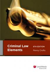 Criminal Law Elements, 6th edition (eBook) cover