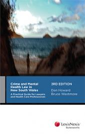 Crime and Mental Health Law in New South Wales, 3rd edition cover