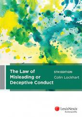 The Law of Misleading or Deceptive Conduct, 5th edition cover