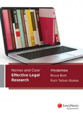 Nemes & Coss' Effective Legal Research, 7th edition (eBook) cover