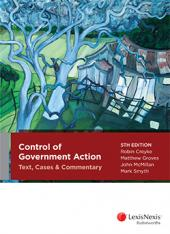 Control of Government Action: Text Cases and Commentary, 5th edition cover
