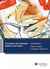 Principles of Australian Equity and Trusts, 4th edition cover