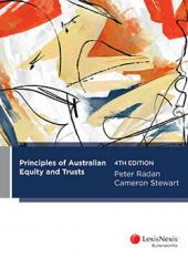 Principles of Australian Equity and Trusts, 4th edition (eBook) cover