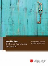 Mediation Skills and Techniques, 3rd edition cover