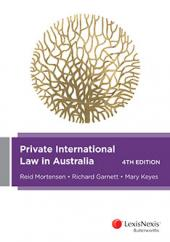 Private International Law in Australia, 4th edition cover