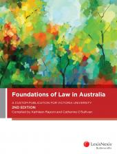 Foundations of Law in Australia: A Custom Publication for Victoria University, 2nd edition (eBook) cover