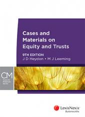Cases and Materials on Equity and Trusts, 9th edition cover