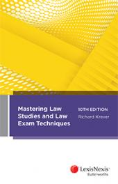 Mastering Law Studies and Law Exam Techniques, 10th edition (eBook) cover