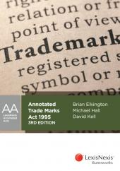 Annotated Trade Marks Act 1995, 3rd edition cover