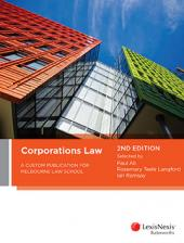 Corporations Law: A Custom Publication for Melbourne Law School, 2nd edition  cover