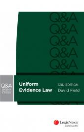 LexisNexis Questions and Answers: Uniform Evidence Law, 3rd edition cover