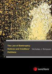 The Law of Bankruptcy Notices and Creditors' Petitions cover