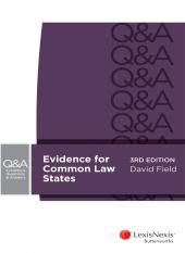 LexisNexis Questions and Answers: Evidence for Common Law States, 3rd edition (eBook) cover