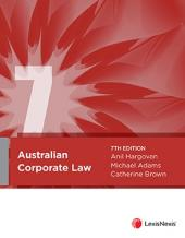 Australian Corporate Law, 7th edition cover