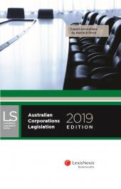 Australian Corporations Legislation, 2019 edition cover